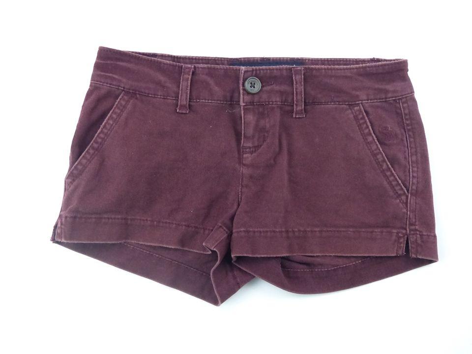 Abercrombie Girl's Maroon Denim Shorts Size 10 Girls Colored Jean Shorts | eBay