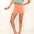 Coral Pin Up Shorts | Affordable Junior Clothing & Plus Sized Dresses | Shimmer
