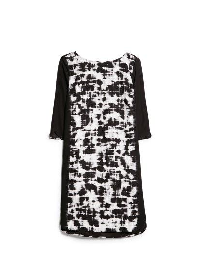 watercolor print dress