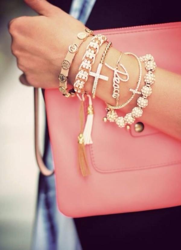 jewels bracelets gold diamonds life girl kiss