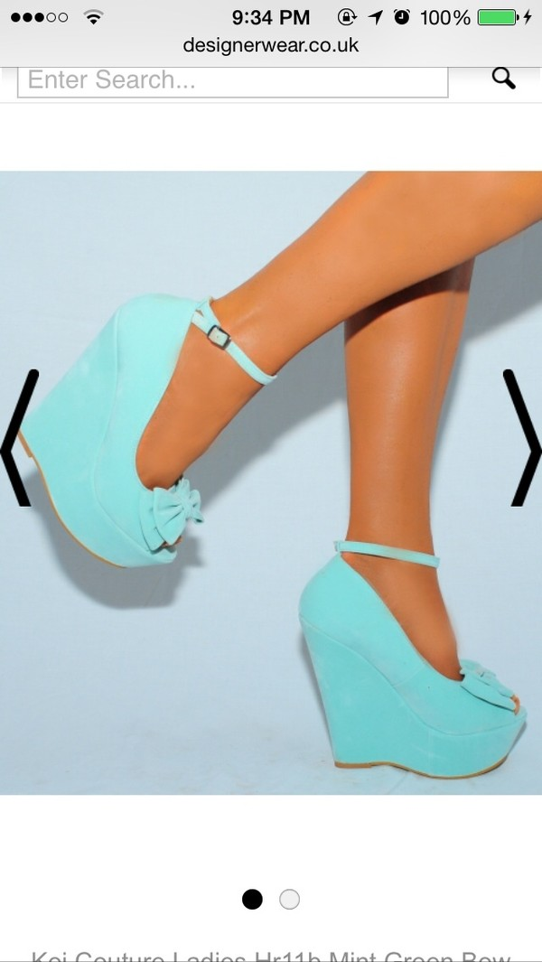 shoes blue wedges