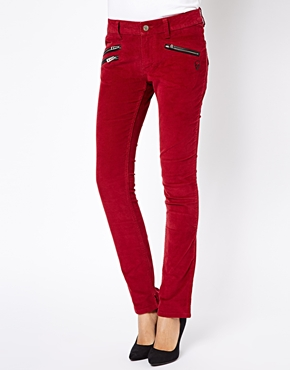 Zadig & Voltaire | Zadig and Voltaire Skinny Jeans with Zip and Skull Detail at ASOS