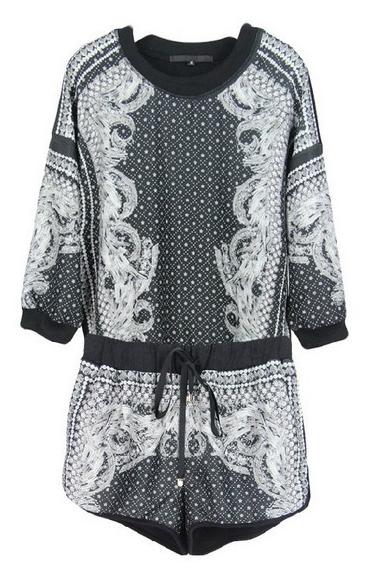 Retro Pattern Printing Profile T   Shorts - Juicy Wardrobe