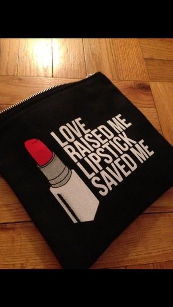 bag makup bag lipstick