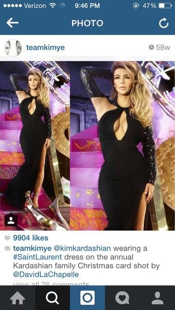 kim kardashian black dress sexy dress