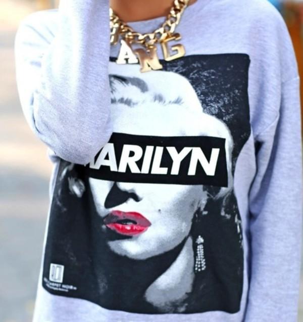 sweater marilyn monroe dope jewels