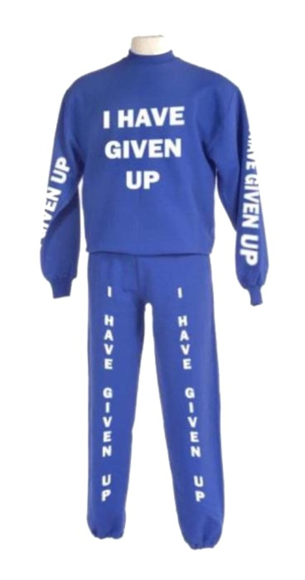 sweater blue crewneck pants i give up sweat pants i give up sweater exam week outfit exam week pajamas i have given up sweats hoodie funny jumpsuit funny purple sweats i give u cozy back to school quote on it tracksuit blue sweater