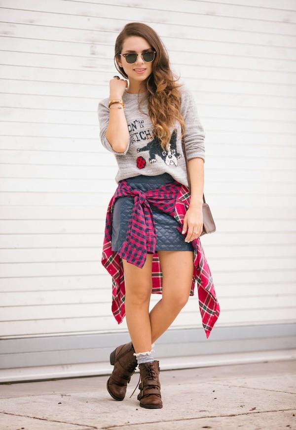 nany's klozet shirt skirt sweater