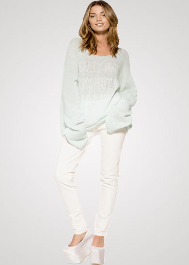 Wildfox Salty Hair Sweater  - Pretty Young Style