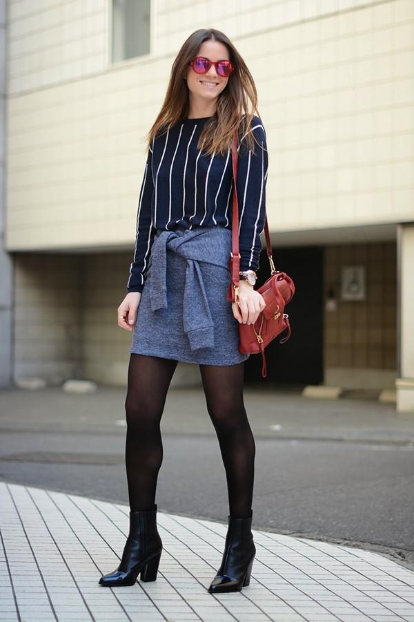 fashion vibe sweater sunglasses skirt bag shoes