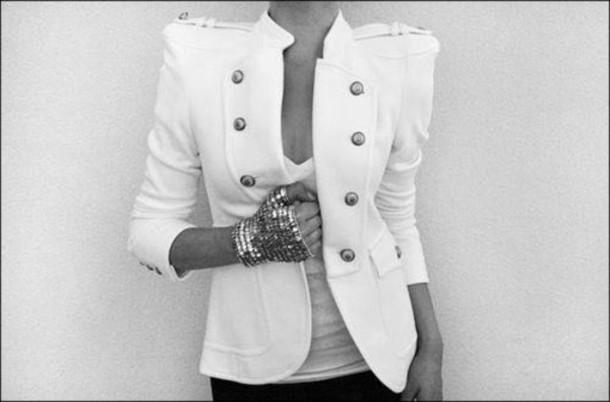 jewels gold jacket blouse