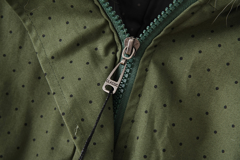 Army Green Hooded Long Sleeve Drawstring Trench Coat - Sheinside.com