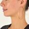 Oversized skinny hoop earrings