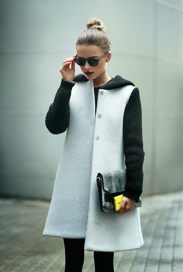 coat sunglasses