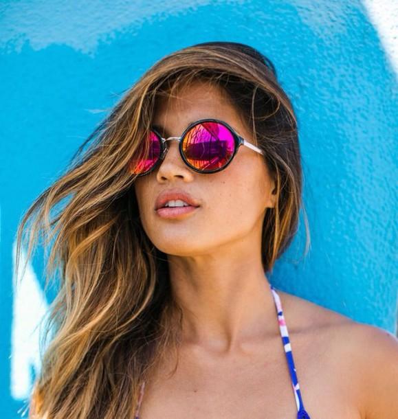 sunglasses round sunglasses mirrored sunglasses