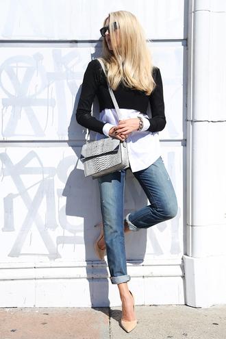 cheyenne meets chanel shirt jeans shoes bag sunglasses