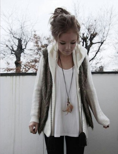sweater cardigan vest necklace coat