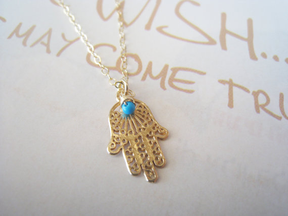 Gold hamsa necklace Hamsa necklace Lace Hamsa by TresJoliJewelry