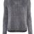 Black Long Sleeve Metallic Yoke Zipper Sweater - Sheinside.com