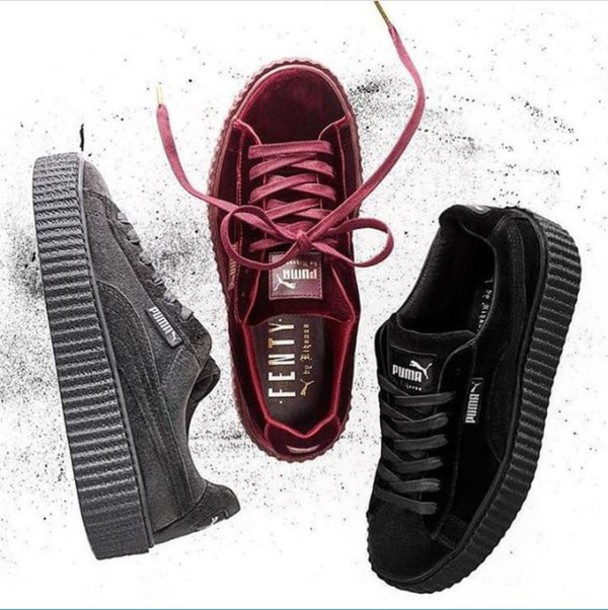 Puma Fenty Shoes Burgundy