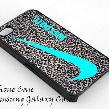 Nike Just Do It Leopard Silver for iPhone 4/4S/5/5S5C Case, Samsung Galaxy S3/S4 Case, iPod Touch 4/5 Case on Wanelo