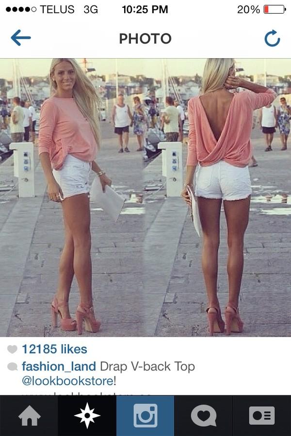 blouse pink blouse white shirt blonde hair shoes