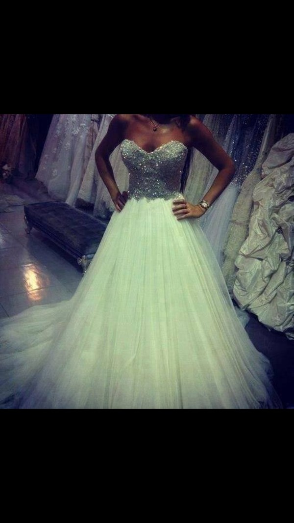 dress white sparkle