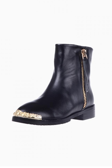Zip Ankle Boots With Metal Detail [HXM1886]- US$105.72 - PersunMall.com