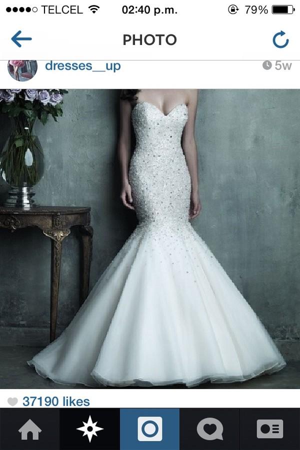 dress white dress wedding dress mermaid prom dress lace wedding dress