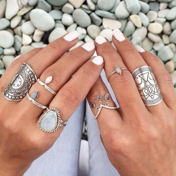 jewels boho ring ring boho jewelry nail accessories silver gold jewelry boho chic diamonds diamond ring opal hippie indie boho indie hippie jewelry cute love beautiful layers white black nails knuckle ring brass pretty gorgeous silver ring bohemian