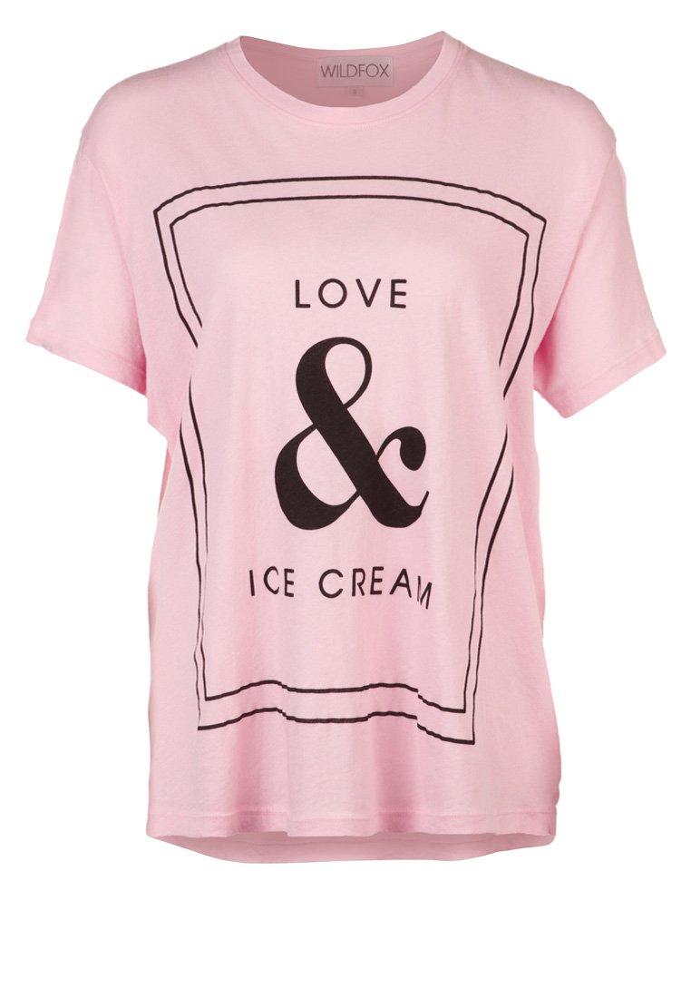Wildfox LOVE & ICE CREAM - Print T-shirt - pink - Zalando.co.uk