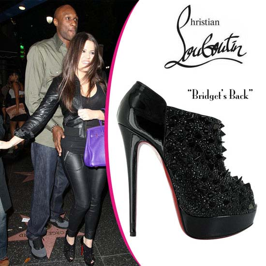 Christian Louboutin Bridgets Back Spiked Ankle Boots Black - $141.00