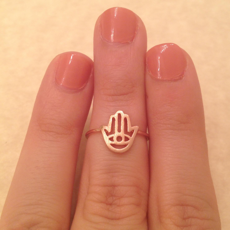 Rose Gold Midi Hamsa Ring » Indigo Box Jewels Rings » Indigo Box Jewels