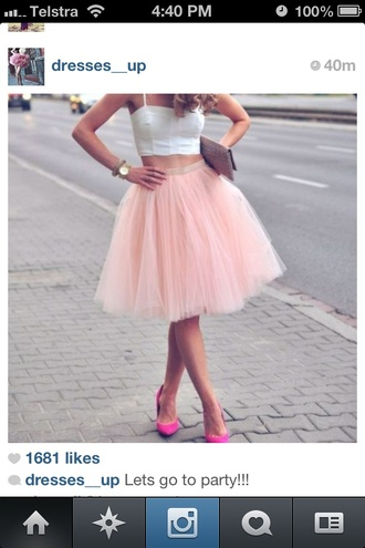 skirt tulle skirt pink fluffle sex and the city carrie bradshaw instagram party