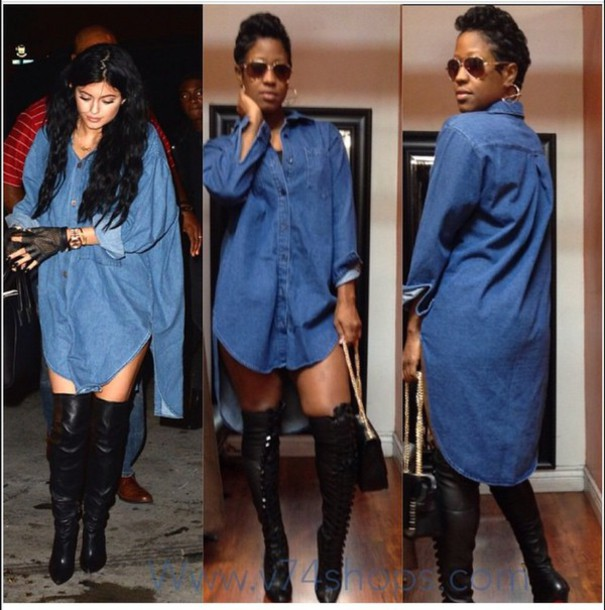 blouse jeans dress top kylie jenner