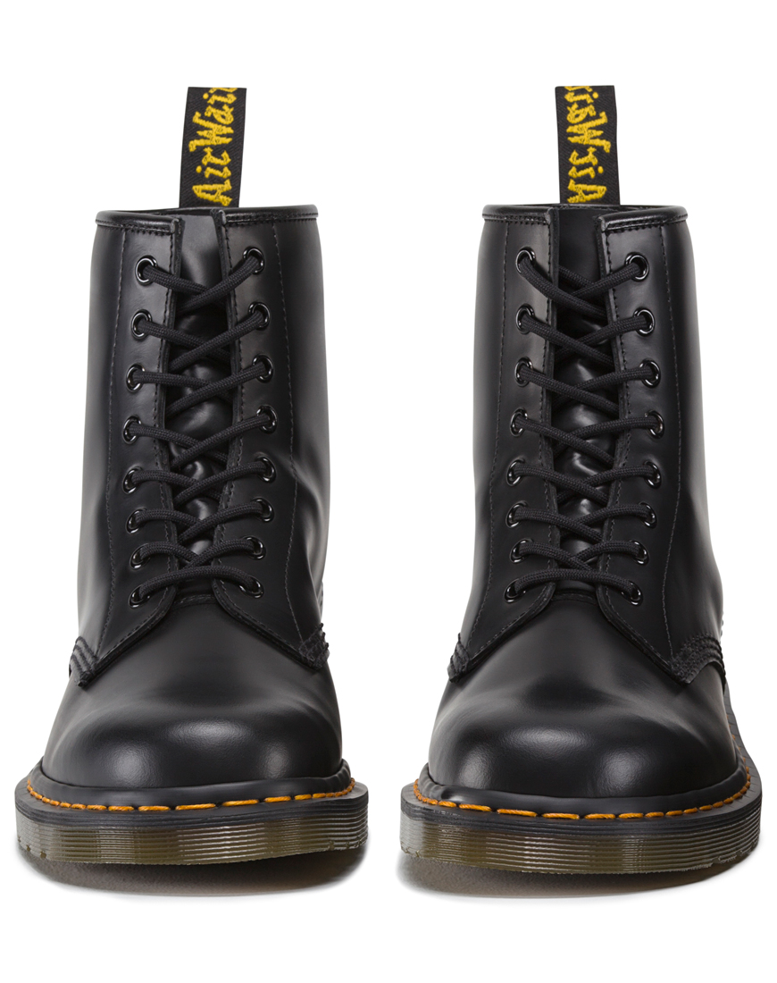 Buy Dr Martens 1460 8 Eye Boot in Smooth Black at Motel Rocks