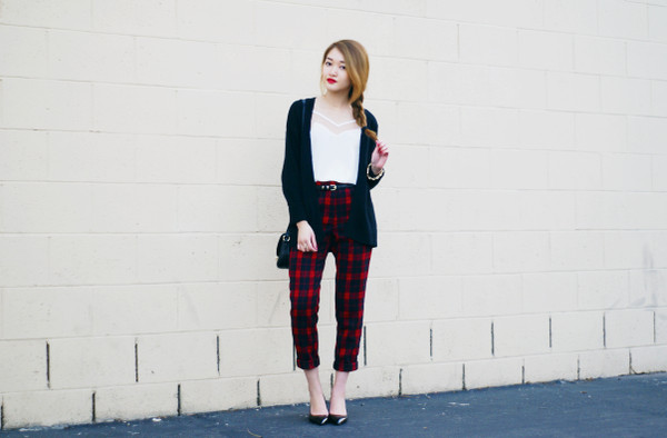 rouge fox sweater tank top pants shoes