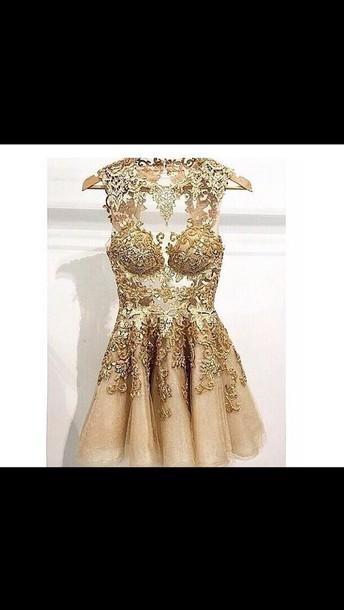 dress gold dress lace dress tumblr dress instagram dress