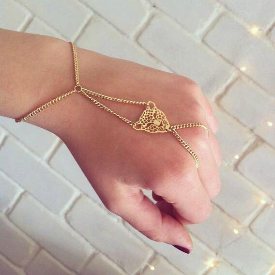 Hot New Fashion Simple Hiphop Punk Bracelet Bangle Slave Chain Leopard Link Ring   eBay