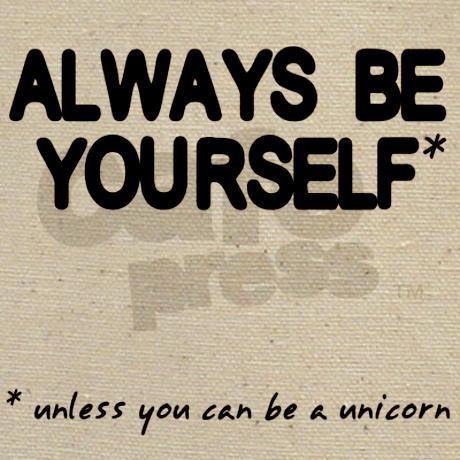 Always Be Yourself Unicorn Tote Bag by HeyThatsPunny2