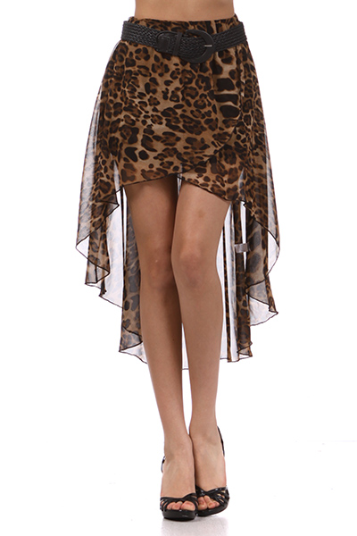 Sheer Leopard Print High Low Hem Design With Skinny Belt [theleopard-skirt] - $44.99 : Uturn Utopia, Retro footwear, Rockabilly Shoes, Vintage Inspired Clothing, jewelry, Steampunk