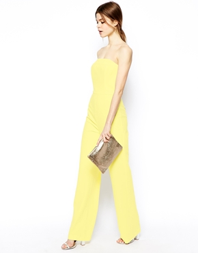 ASOS   ASOS Jumpsuit in Bandeau with Wide leg at ASOS