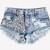 Luna Acid Studded Babe Shorts | RUNWAYDREAMZ