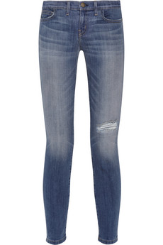 Juke Box distressed low-rise skinny jeans   THE OUTNET