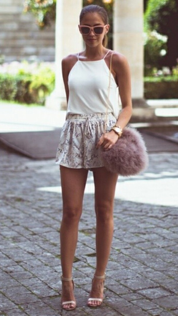shorts crocodile fashion girly spring outfits amazingness lovely pepa top shoes