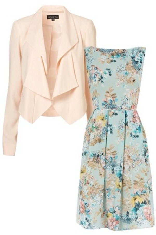 dress blazer floral dress clothes clothes jacket