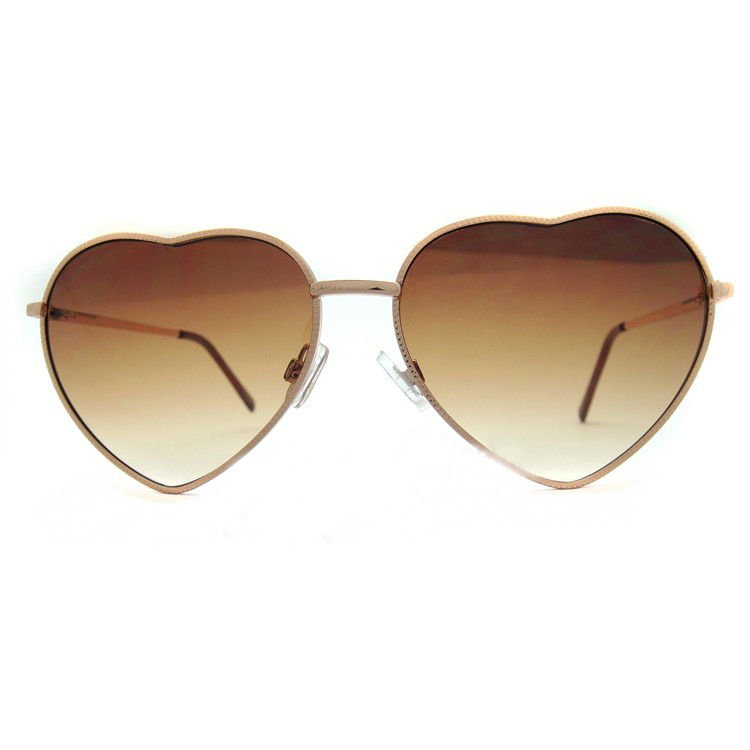 Free Shipping   Cute Heart Shaped Brown Lens Gold Frame Glasses Sunglasses Driving Sunglasses-in Sunglasses from Apparel & Accessories on Aliexpress.com