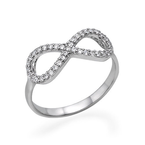 925 Sterling Silver Infinity Knot Pave Russian by BlueAppleJewelry