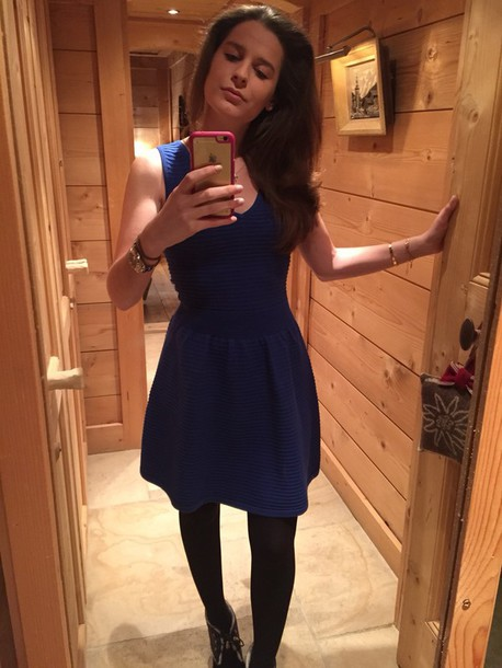 dress sandro electric blue style fashion