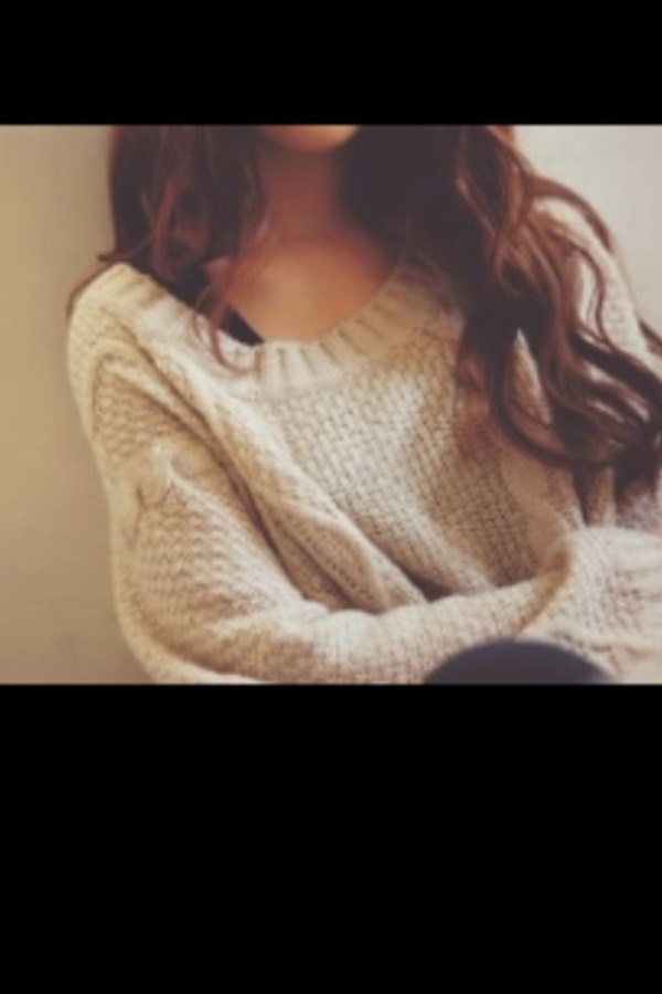 sweater jumper cream knitted sweater